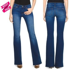 White House Black Market Mid Rise Wide Flare Jeans